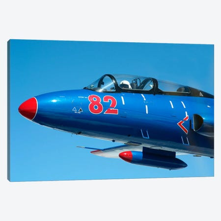 L-29 Delfin Standard Jet Trainer Of The Warsaw Pact Canvas Print #TRK218} by Daniel Karlsson Canvas Wall Art