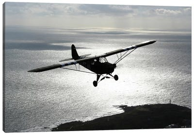 Piper L-4 Cub In US Army D-Day Colors Canvas Art Print
