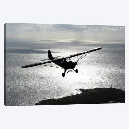 Piper L-4 Cub In US Army D-Day Colors Canvas Print #TRK221} by Daniel Karlsson Canvas Print