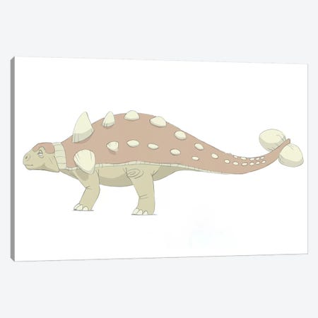 Euoplocephalus Pencil Drawing With Digital Color Canvas Print #TRK2230} by Alice Turner Canvas Art Print