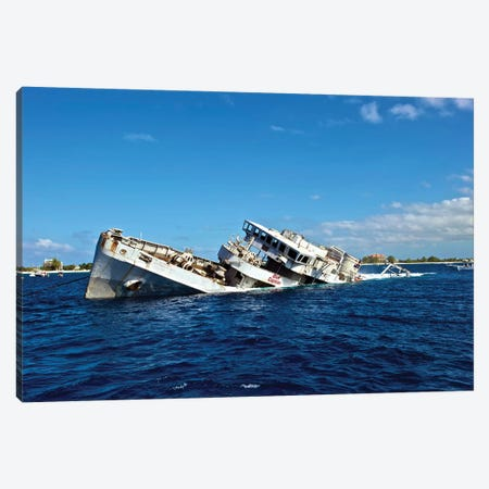 The Sinking Of Uss Kittiwake, Grand Cayman Canvas Print #TRK2238} by Amanda Nicholls Canvas Art Print