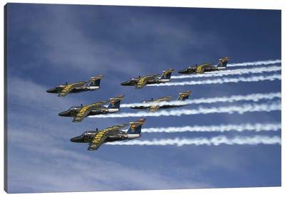Saab 105 Jet Trainers Of The Swedish Air Force Display Team, Team 60 II Canvas Art Print