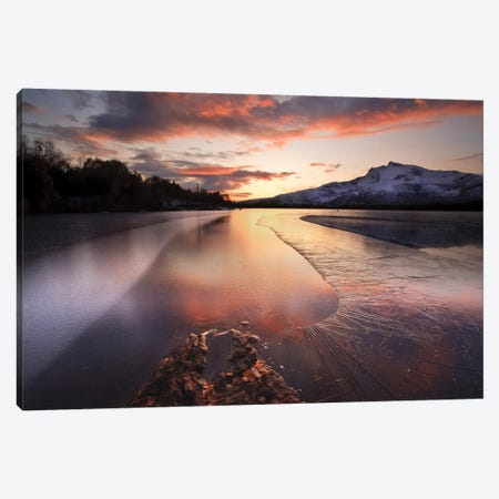 A Frozen Straumen Lake On Tjeldoya Island In Nordland County, Norway Canvas Print #TRK2242} by Arild Heitmann Canvas Art