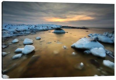 A Frozen, Rusty Bay On Andoya Island In Nordland County, Norway Canvas Art Print