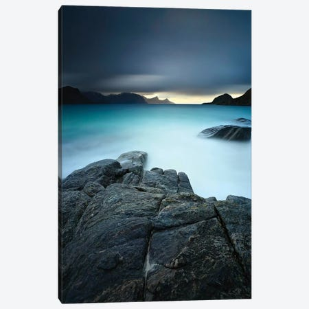 A Long Exposure Scene At Haukland Beach In Lofoten, Norway Canvas Print #TRK2244} by Arild Heitmann Canvas Print