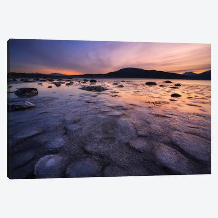 A Winter Sunset At Evenskjer In Troms County, Norway Canvas Print #TRK2246} by Arild Heitmann Art Print