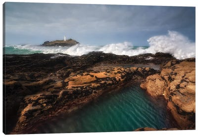 Godrevy Lighthouse In Cornwall, England Canvas Art Print