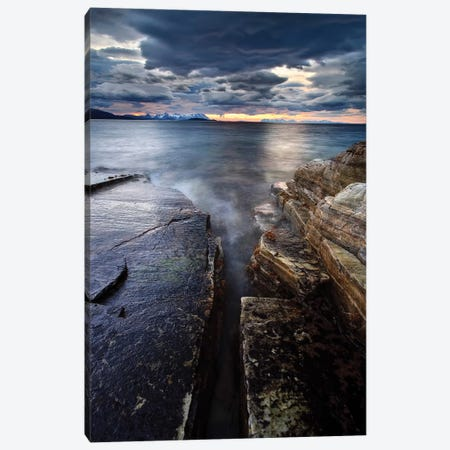Midnight Sun Over Vagsfjorden In Troms County, Norway Canvas Print #TRK2259} by Arild Heitmann Canvas Art Print