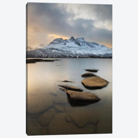 Novatinden Mountain And Skoddeberg Lake In Troms County, Norway Canvas Print #TRK2261} by Arild Heitmann Canvas Artwork
