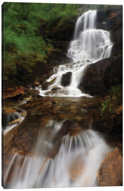 Roasto Falls In Nordland County, Norway Canvas Art Print
