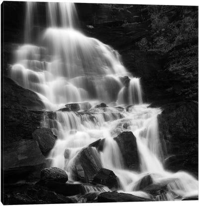 Roasto Waterfall In Nordland, Norway Canvas Art Print