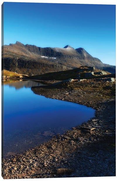 Skittendalen Mountain Peaks In Troms County, Norway Canvas Art Print