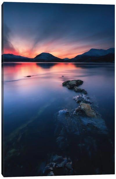 Sunset Over Tjeldsundet, Troms County, Norway II Canvas Art Print