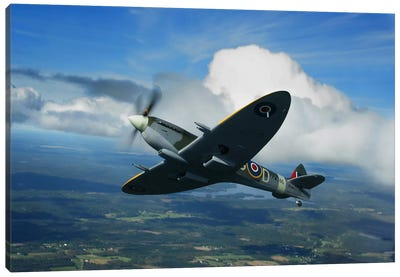 Supermarine Spitfire Mk.XVI Fighter Warbird Of The Royal Air Force Canvas Art Print