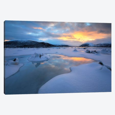The Fjord Of Tjeldsundet In Troms County, Norway Canvas Print #TRK2270} by Arild Heitmann Art Print