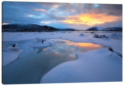 The Fjord Of Tjeldsundet In Troms County, Norway Canvas Art Print