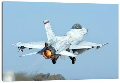 A Hellenic Air Force F-16C Block 50 Taking Off From Andravida, Greece Canvas Art Print