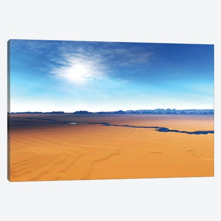 A River Flows Through This Desert Wilderness Area Canvas Print #TRK2290} by Corey Ford Canvas Print