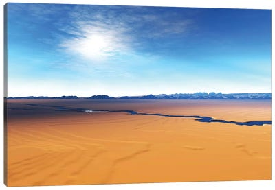 A River Flows Through This Desert Wilderness Area Canvas Art Print
