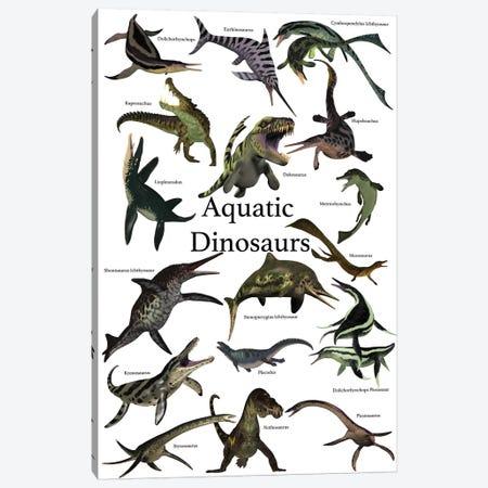 Aquatic Dinosaurs Poster Canvas Print #TRK2299} by Corey Ford Art Print