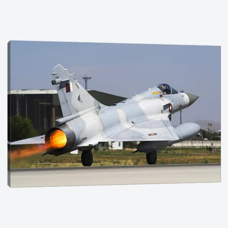 A Mirage 2000-5EdDA From The Qatar Emiri Air Force Taking Off Canvas Print #TRK229} by Daniele Faccioli Art Print