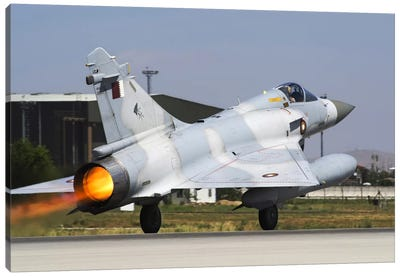 A Mirage 2000-5EdDA From The Qatar Emiri Air Force Taking Off Canvas Art Print