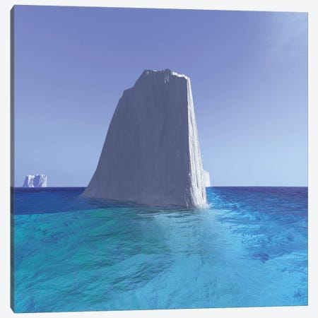 Icebergs Roam The Oceans Of The World Canvas Print #TRK2305} by Corey Ford Canvas Artwork