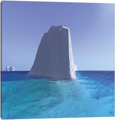 Icebergs Roam The Oceans Of The World Canvas Art Print
