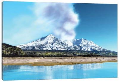 Mount Saint Helens Simmers After The Volcanic Eruption Canvas Art Print