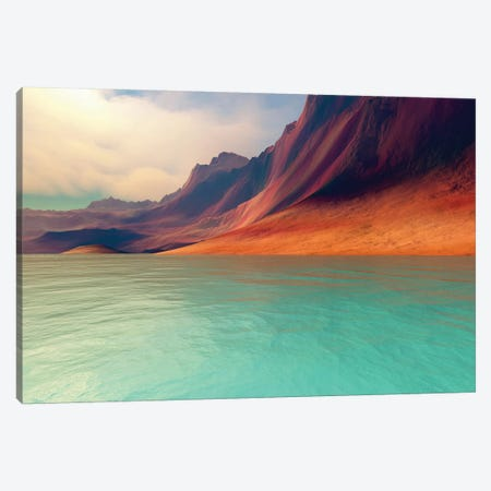 Mountains Rise Gently Toward The Sky With Amazing Deep Brown Colors Canvas Print #TRK2313} by Corey Ford Canvas Wall Art