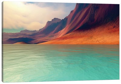 Mountains Rise Gently Toward The Sky With Amazing Deep Brown Colors Canvas Art Print