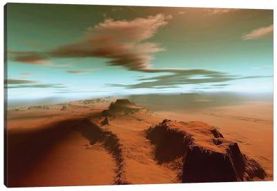 Overhead View Of A Vast Desert Wilderness Canvas Art Print