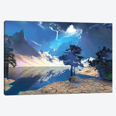 Sunrays Shine Down On This Beautiful Valley Canvas Print #TRK2332} by Corey Ford Canvas Wall Art