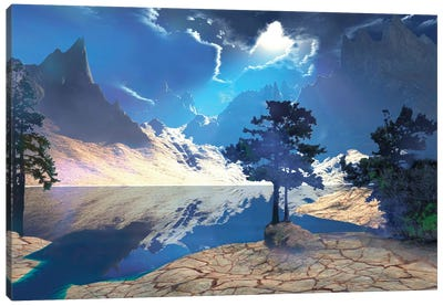 Sunrays Shine Down On This Beautiful Valley Canvas Art Print