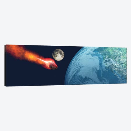 The Earth Is About To Be Hit By An Unknown White Hot Asteroid Canvas Print #TRK2338} by Corey Ford Canvas Wall Art
