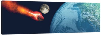 The Earth Is About To Be Hit By An Unknown White Hot Asteroid Canvas Art Print
