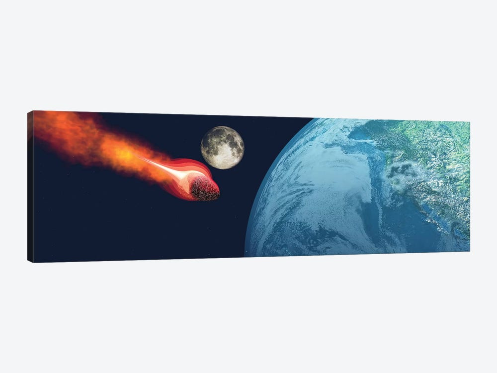 The Earth Is About To Be Hit By An Unknown White Hot Asteroid by Corey Ford 1-piece Canvas Wall Art
