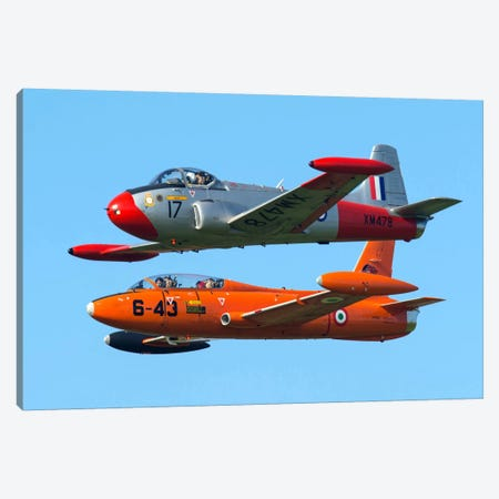 An MB-326E Of The Italian Air Force Flies Alongside A Jet Provost T3A Canvas Print #TRK233} by Daniele Faccioli Canvas Art