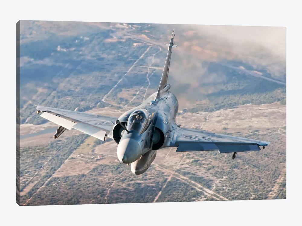 Brazilian Air Force Mirage 2000 Flying Over Brazil 1-piece Art Print