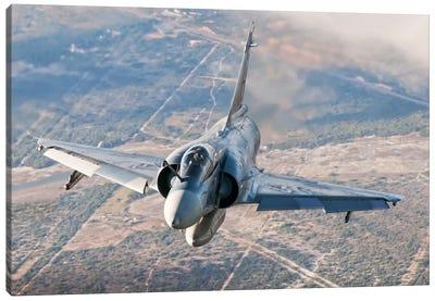 Brazilian Air Force Mirage 2000 Flying Over Brazil Canvas Art Print