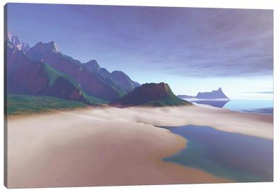 This Misty Hawaiin Coastline On The Island Of Oahu Has Clear Blue Waters Canvas Art Print