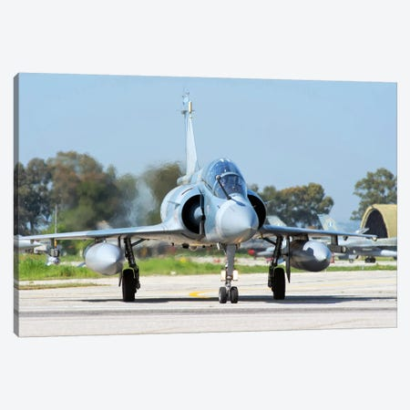 Hellenic Air Force Mirage 2000-5BG Preparing For Takeoff Canvas Print #TRK237} by Daniele Faccioli Canvas Print