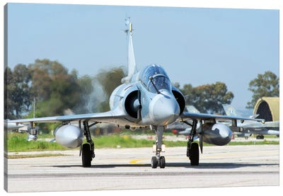 Hellenic Air Force Mirage 2000-5BG Preparing For Takeoff Canvas Art Print
