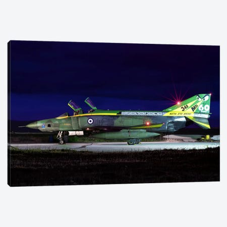 Hellenic Air Force RF-4E Phantom II At Larissa Air Base, Greece Canvas Print #TRK238} by Daniele Faccioli Canvas Art