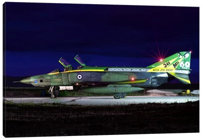 Hellenic Air Force RF-4E Phantom II At Larissa Air Base, Greece Canvas Art Print