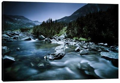 A River In The Mountains Of Pirin National Park, Bansko, Bulgaria. Canvas Art Print