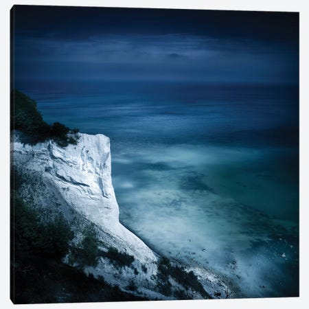 Aerial View Of Chalk Mountain And Sea, Mons Klint Cliffs, Denmark. Canvas Print #TRK2404} by Evgeny Kuklev Canvas Print