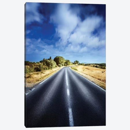 An Asphalt Road Against Tranquil Clouds, Florence, Italy. Canvas Print #TRK2418} by Evgeny Kuklev Canvas Print
