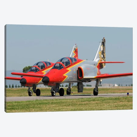 Pair Of Spanish Air Force C-101s Of The Patrulla Aguila Aerobatics Team Canvas Print #TRK241} by Daniele Faccioli Art Print