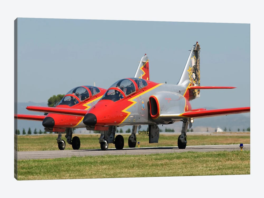 Pair Of Spanish Air Force C-101s Of The Patrulla Aguila Aerobatics Team by Daniele Faccioli 1-piece Canvas Print